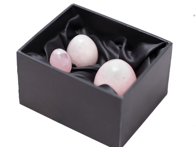 Rose Quartz Set Of Three With Horizontal Drill Hole