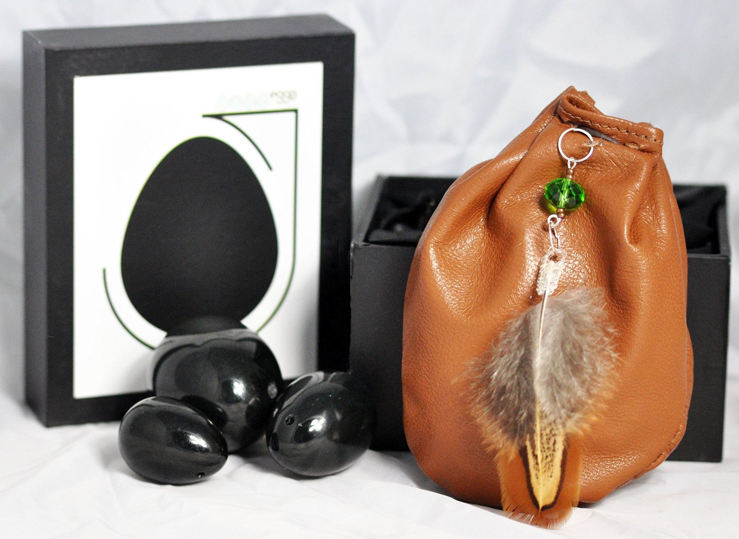 Genuine Hetian Nephrite Jade With Soft Leather Handrafted Weightlifting Pouch