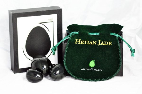 Nephrite Jade Set Of 3 With Stylish Pouch and Instructions