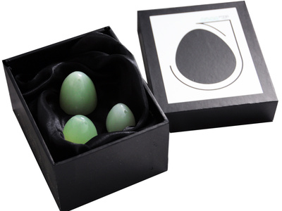 Jade Eggs Set Of Three In Stylish Box (click me)